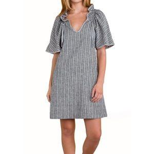 Prairie Underground Grey Striped Confetti Dress